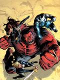 Hulk No.43 Cover: Red Hulk, Valkyrie, Black Widow, and War Machine Fighting Plastic Sign by Patrick Zircher