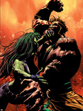 She-Hulk No.30 Cover: She-Hulk and Hercules Plastic Sign by Mike Deodato