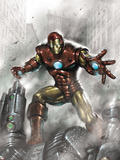 Indomitable Iron Man No.1 Cover: Iron Man Wall Decal by Lucio Parrillo