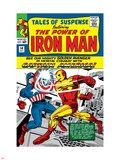 Tales Of Suspense No.58 Cover: Iron Man and Captain America Fighting Plastic Sign by Don Heck