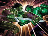 Incredible Hulk No.611 Cover: Skaar and Hulk Fighting Plastic Sign by John Romita Jr.