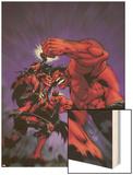 Hulk No.17 Cover: Rulk and Red She-Hulk Wood Print by Ian Churchill