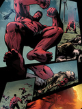 Hulk No.36: Panels with Red Hulk Jumping Plastic Sign by Patrick Zircher