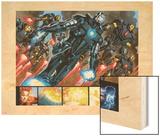 Iron Man 20 Figure: War Machine, Iron Man Wood Print by Joe Bennett