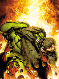 Incredible Hulks No.618 Cover: Hulk and Abomination Fighting Plastic Sign by Carlo Pagulayan