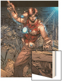 Iron Man Legacy No.7: Tony Stark Standing Wood Print by Steve Kurth