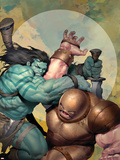 Incredible Hulk No.602 Cover: Skaar and Juggernaut Plastikskilte af Ariel Olivetti
