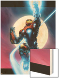 Ultimate Iron Man No.1 Cover: Iron Man Wood Print by Andy Kubert