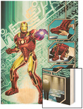 Iron Man: The End No.1 Cover: Iron Man Wood Print by Bob Layton