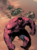 Hulk of Arabia Ashcan No.1 Cover: Red Hulk Walking Up a Dune Plastic Sign by Patrick Zircher