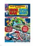 Tales Of Suspense No.62 Cover: Iron Man, Captain America and Mandarin Plastic Sign by Don Heck