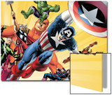 Fallen Son: The Death Of Captain AmericaNo.5 Group: Captain America Prints by John Cassaday