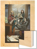 Dark Reign: The List - Hulk No.1 Group: Ms. Marvel, Osborn, Norman, Hand and Victoria Wood Print by Ben Oliver