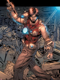 Iron Man Legacy No.7: Tony Stark Standing Plastic Sign by Steve Kurth