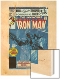 The Invinvible Iron Man No.152 Cover: Iron Man Wood Print by Bob Layton