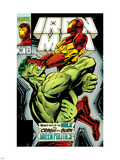 Iron Man No.305 Cover: Iron Man and Hulk Fighting Wall Decal by Kev Hopgood