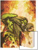 Incredible Hulks No.618 Cover: Hulk and Abomination Fighting Wood Print by Carlo Pagulayan