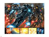 Iron Man 20 Figure: War Machine, Iron Man Wall Decal by Joe Bennett