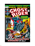 Marvel Spotlight No.5 Cover: Ghost Rider Plastic Sign by Mike Ploog