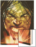 Dark Reign: The List - Hulk No.1 Cover: Banner, Bruce and Skaar Wood Print by Ben Oliver