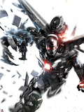 War Machine No.8 Cover: War Machine Plastic Sign by Francesco Mattina