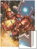 The Invincible Iron Man No.1 Cover: Iron Man Wood Print by Joe Quesada