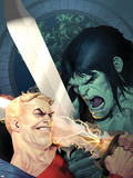Incredible Hulk No.605 Cover: Skaar and Tyrannus Plastic Sign by Ariel Olivetti
