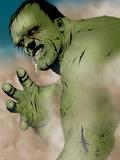 Hulk & Thing: Hard Knocks No.1 Headshot: Hulk Charging Plastic Sign by Jae Lee