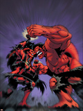 Hulk No.17 Cover: Rulk and Red She-Hulk Wall Decal by Ian Churchill
