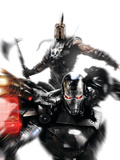 War Machine No.4 Cover: War Machine and Ares Fighting Wall Decal by Francesco Mattina