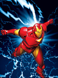 Marvel Two-In-One No.9 Marvel Adventures Iron Man Cover: Iron Man Cartel de plástico por Michael Golden