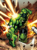 Incredible Hulks No.615 Cover: Hulk Smashing Plastic Sign by Carlo Pagulayan