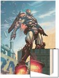 Iron Man No.89 Cover: Iron Man Wood Print by Pat Lee