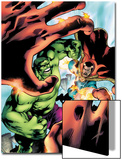 Marvel Adventures Hulk No.5 Cover: Hulk and Dr. Strange Posters by Juan Santacruz