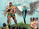 Incredible Hulk No.106 Group: Cho, Amadeus, Hercules and Angel Plastic Sign by Gary Frank