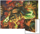 Incredible Hulks No.618: Abomination Fighting Wood Print by Paul Pelletier