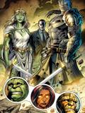 Incredible Hulks No.619: Jarella, Glenn Talbot, and Hiroim Standing Plastic Sign by Paul Pelletier