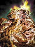 Fantastic Four No.584 Cover: Thing Transforming Plastic Sign by Alan Davis