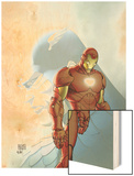 Fallen Son: The Death Of Captain AmericaNo.5 Cover: Captain America and Iron Man Wood Print by Michael Turner
