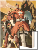 She-Hulk No.34 Group: Red Guardian, Ursa Major, Darkstar and Crimson Dynamo Wood Print by Vincenzo Cucca
