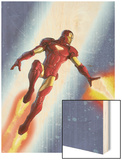 Iron Man & The Armor Wars No.3 Cover: Iron Man Wood Print by Francis Tsai