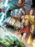 Incredible Hulks No.621: Zeus and Hera Plastic Sign by Paul Pelletier
