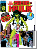 Hulk Family: Green Genes No.1 Cover: She-Hulk, Walters and Jennifer Posters by John Buscema