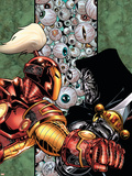 Iron Man: Legacy Of Doom No.4 Cover: Iron Man and Dr. Doom Plastic Sign by Ron Lim