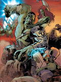 World War Hulk: Gamma Corps No.3 Cover: Hulk Plastic Sign by Stephane Roux