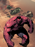 Hulk No.42 Cover: Red Hulk Walking up a Dune Plastic Sign by Patrick Zircher