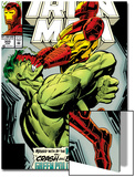 Iron Man No.305 Cover: Iron Man and Hulk Fighting Posters by Kev Hopgood