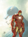 Fallen Son: The Death Of Captain AmericaNo.5 Cover: Captain America and Iron Man Wall Decal by Michael Turner