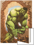 Marvel Age Hulk No.3 Cover: Hulk Wood Print by John Barber