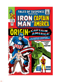 Tales Of Suspense No.63 Cover: Iron Man, The Phantom, Captain America, Rogers and Steve Plastic Sign by Don Heck